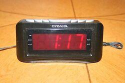 Craig 1.2 Inch Dual Alarm Clock Digital PLL AM/FM Radio (Model No. CR45372)