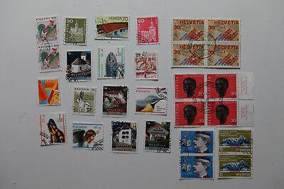 43 diverse gestempelte Briefmarken, vgl. Fotos
