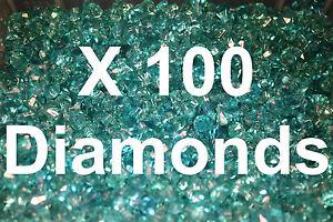100 Lego Frozen Translucent Blue Diamond Gems Jewels City Pirate Castle w/stick