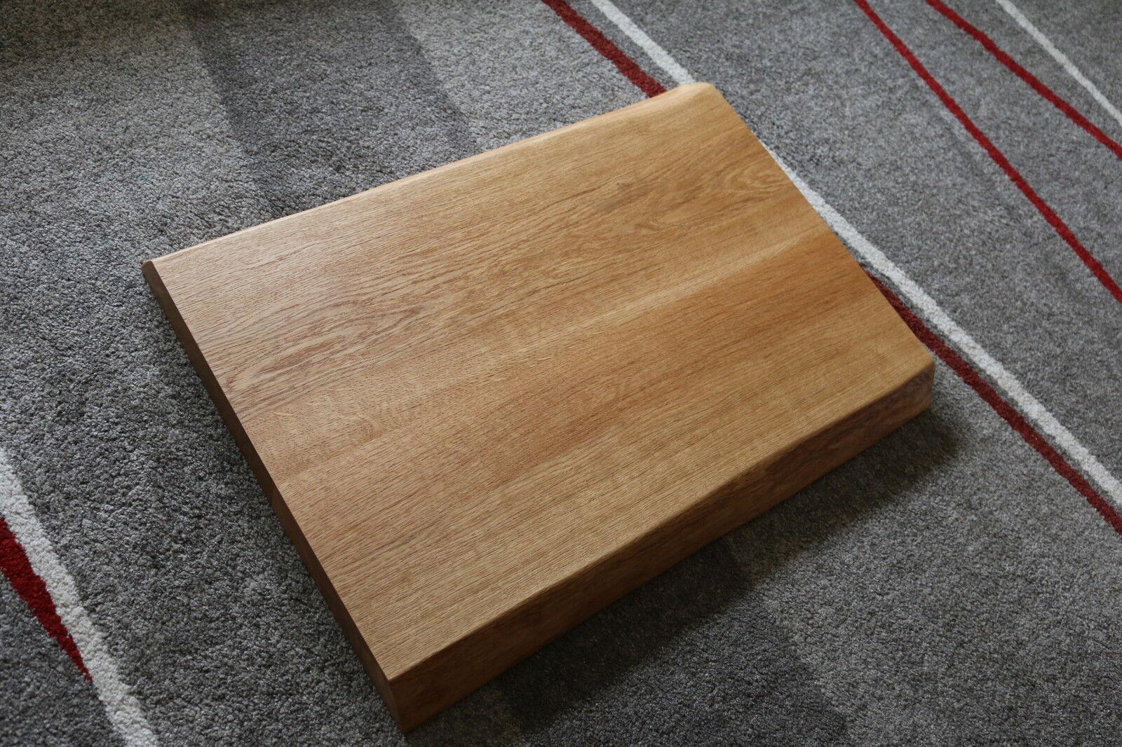 tischplatte platte eiche massiv holz tisch brett leimholz 5 5 cm stark baumkante eur 280 00. Black Bedroom Furniture Sets. Home Design Ideas