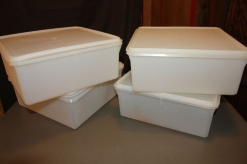 Tupperware Vintage Square Keeper Sheer White (4 Available)