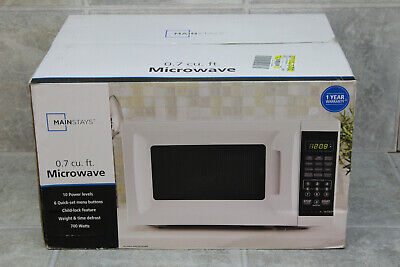 Mainstays 700W - 0.7 Cu. Ft. Compact Microwave - White