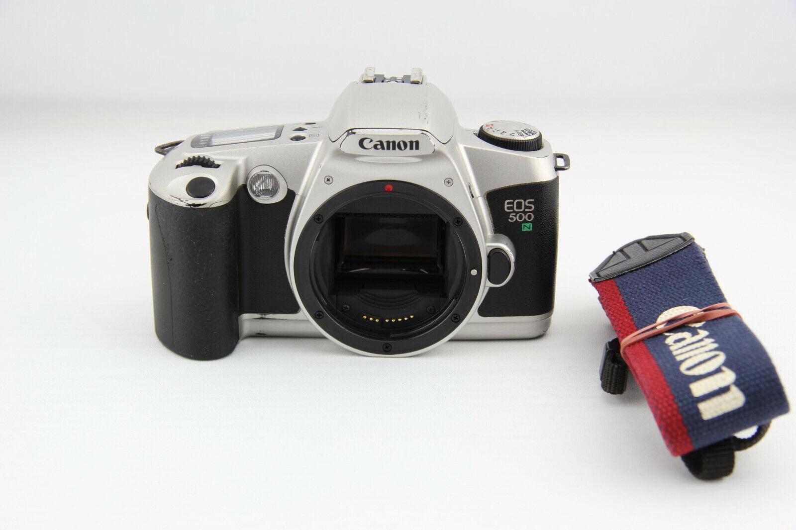 Canon EOS 500N analoge Spiegelreflexkamera silber # 6761