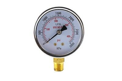 High Pressure Gauge For Propane Regulator 0-400 Psi - 2.5 Inches