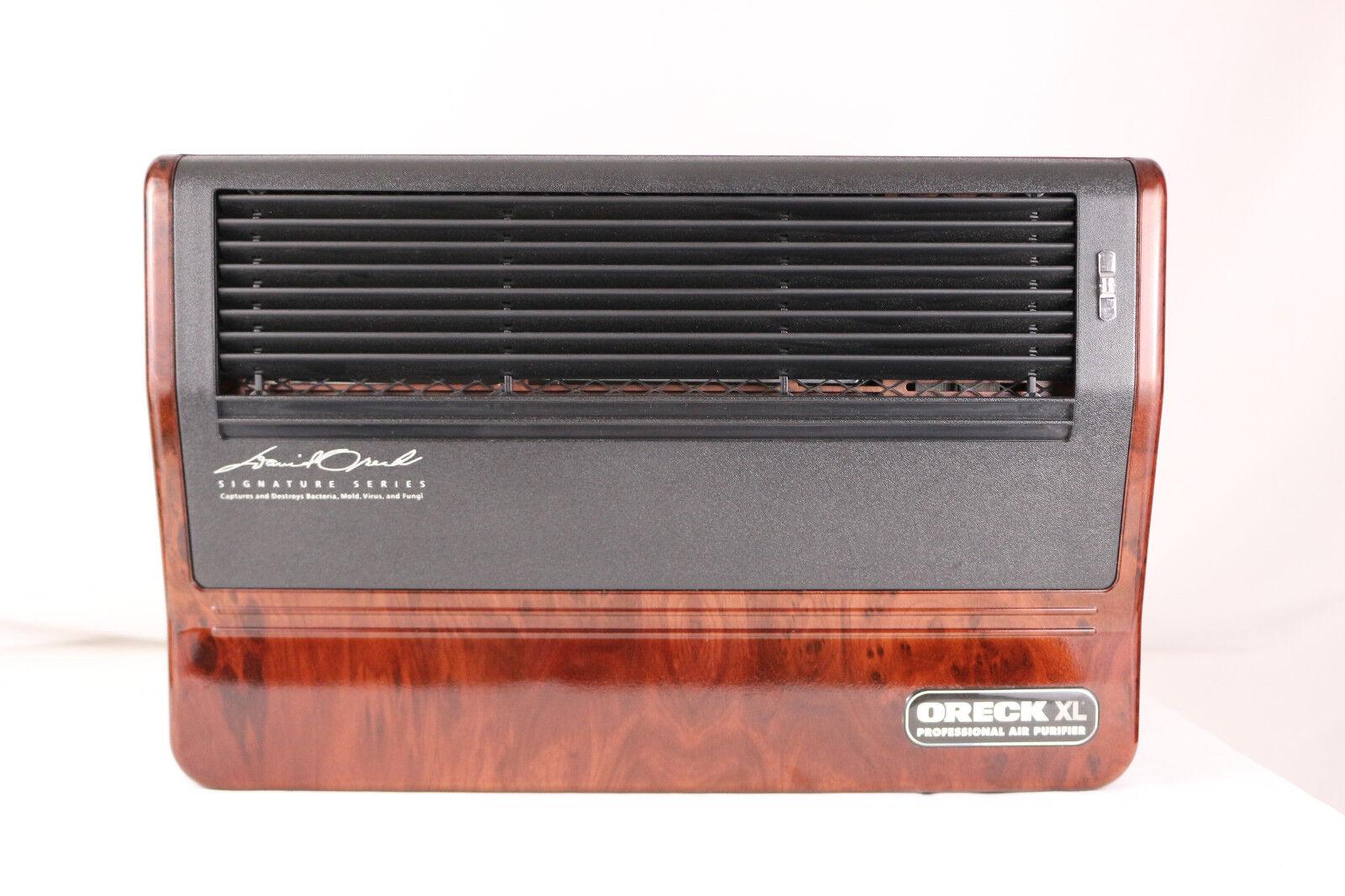Oreck XL Professional Air Purifier AIR8SD Iconic Woodgrain Air Cleaner Pre Owned