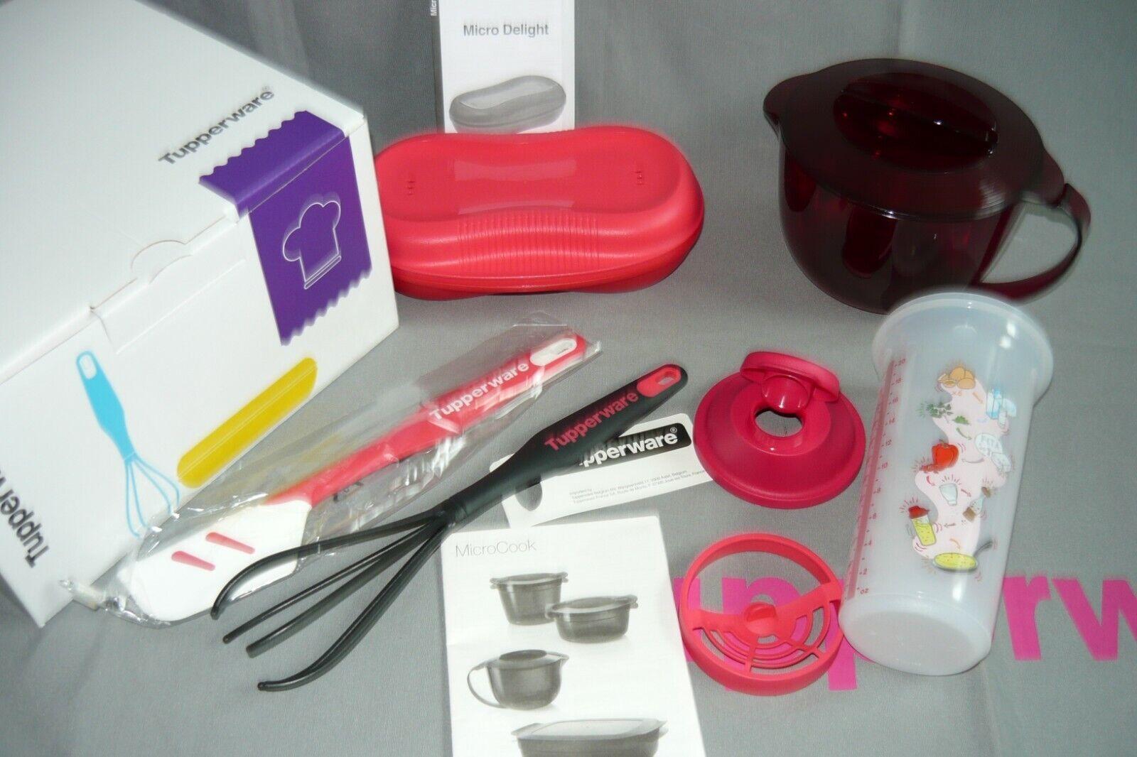 Tupperware Mikrowellen-Starter-Set rosa /rot 5tlg. in der Geschenk Box - NEU/OVP