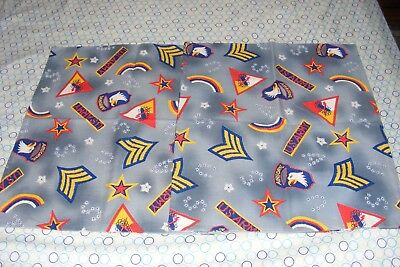 """2 VTG 18"""" x 22"""" Pillow Tops US Army/Airborne/42nd Division/1st Armored+ Insignia"""