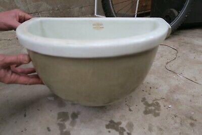 Original Victorian/Edwardian antique ceramic sink planter Doulton Lambeth white