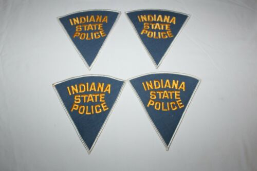 Vintage Indiana State Police Shoulder Patch Set of 4 (Lot #9)