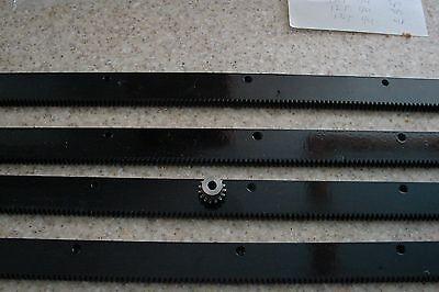 Cnc Stepper Motor Mech Rack Gear 96 Rack 4x24 Pcs A 15t 14 Pinion Gear