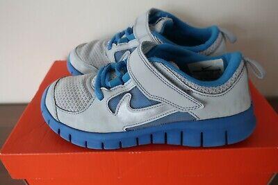 NIKE FREE RUN 3 Little Kids' Boys' 1 Y EU 32 Sports Shoes Sneakers Platinum Blue