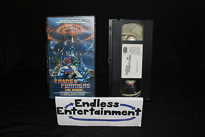 The Transformers The Movie VHS Tape With Clamshell Case Animation Classic!