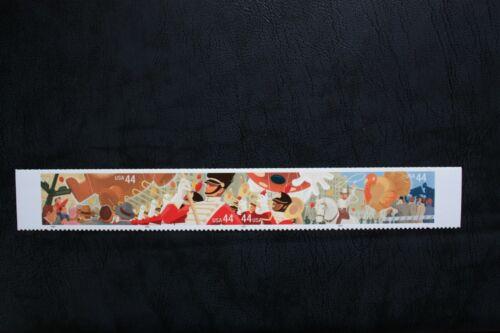 U.S. Scott #4417- 4420 THANKSGIVING DAY PARADE  4/ 44 cent  strip of 4.  Super