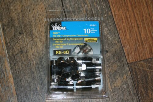 (100 Pieces) Ideal 89-041  RG-6 Quad Indoor F Compression Connector 10-10packs