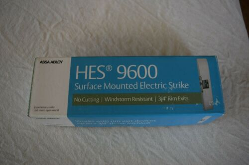 HES 9600-630 Surface Mounted Electric Strike For Push Exit Device 12/24 VDC