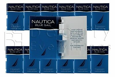 Nautica Blue Sail 12PC (0.04oz / 1.2ml each) EDT Sample Vial Men's Cologne