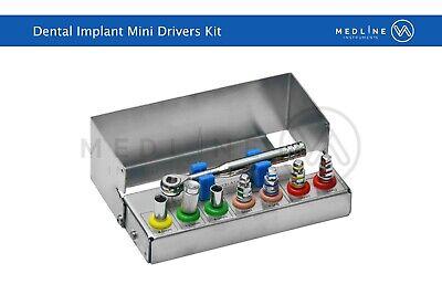 Dental Implant Mini Drivers Kit Universal Ratchet Wrench Hex Drivers 8 Pcs Ce