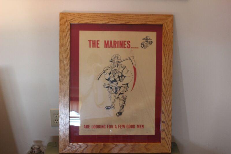 Rare 1969 Marine Corps Recruiting Poster