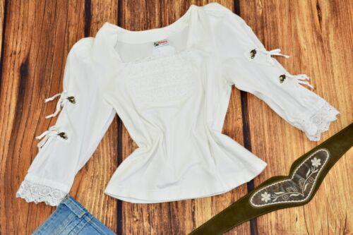 Dirndl blouse White Bavarian blouse Oktoberfest blouse Size 36 / S