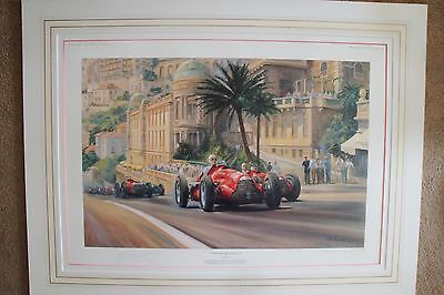 Very Rare, Alan Fearnley Print 'Fangio's Victory at Monaco' 300/500