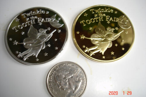 Something Different; Child Tooth Fairy Commemorative Coin Gold Or Silver