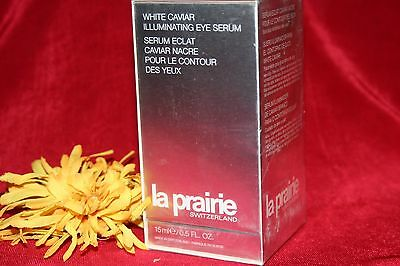 LA PRAIRIE WHITE CAVIAR ILLUMINATING EYE SERUM FULL SIZE .5 OZ SEALED INBOX NEW