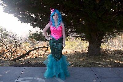 Mermaid Costume For Adult (Mermaid Costume, adjustable sizing for small/medium--includes FREE Blue)