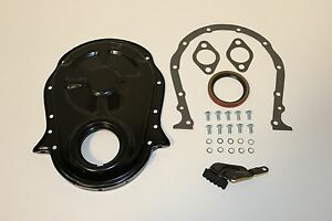 BB Chevy Black Timing Chain Cover Kit 396 427 454 502 BBC Gasket Seal Bolts Set