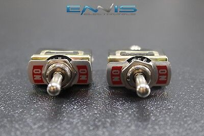 2 Pcs Toggle Switch Spdt On-off-on Toggle 10 Amp 250v 15 Amp 125v 3 Pin Ec-1535