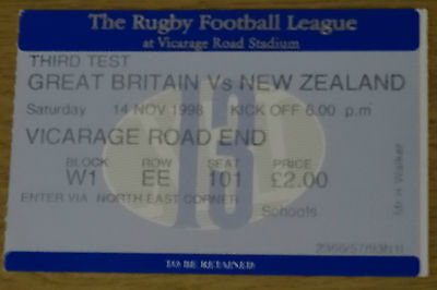 Great Britan v New Zealand rugby league at Vicarage Road, Watford 98/9 3rd test
