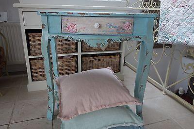 Shabby Vintage Tisch Wandtisch Flurtisch Konsole Holz 78x80x38cm Retro Stil NEU