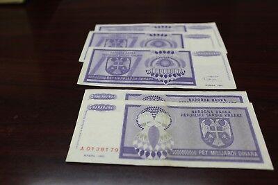 RSK Krajina KNIN CROATIA Banknote Note P R16 - 500 MILLION DINARA 1993 UNC