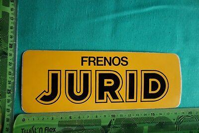 Alter Aufkleber Auto Bremsen FRENOS JURID