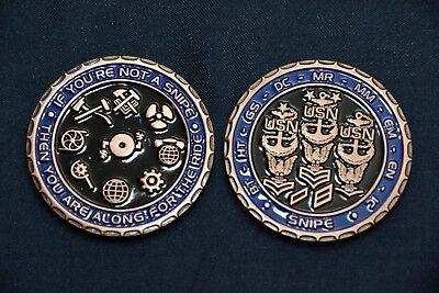 Us Navy Engineering Snipe Challenge Coin  Bronze