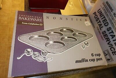 NEW Calphalon stainless steel B5006 Muffin Cap Pan New in Box Stainless Muffin Pan