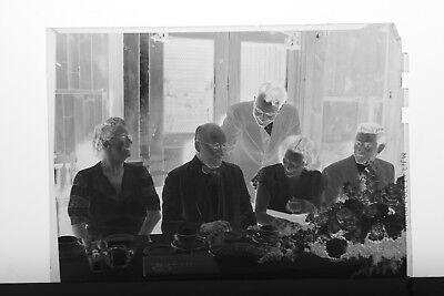 (8) B&W Press Photo Negative Formal Dinner Banquet Parties Vestment Man  -T3405