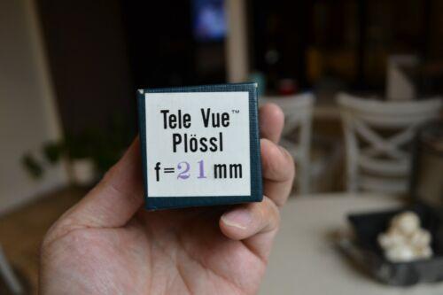 Tele Vue 21mm telescope eyepiece Televue NOS original box Plossl