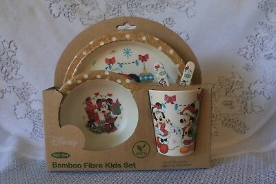 Bambooware Disney Christmas Minnie Mouse Kids 5 Pc. Dinnerware Set ()