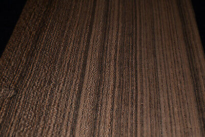 Bocote Raw Wood Veneer Sheets 6 X 45 Inches 142nd Thick   E7318-6