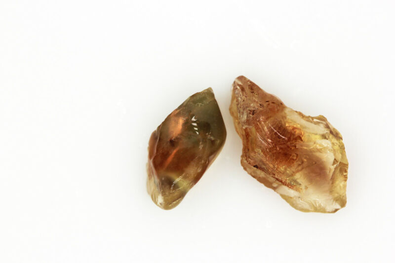 AAA Red & Color-Shift PAIR - OREGON SUNSTONE - Facet Rough Gemstone - 29.30ct.