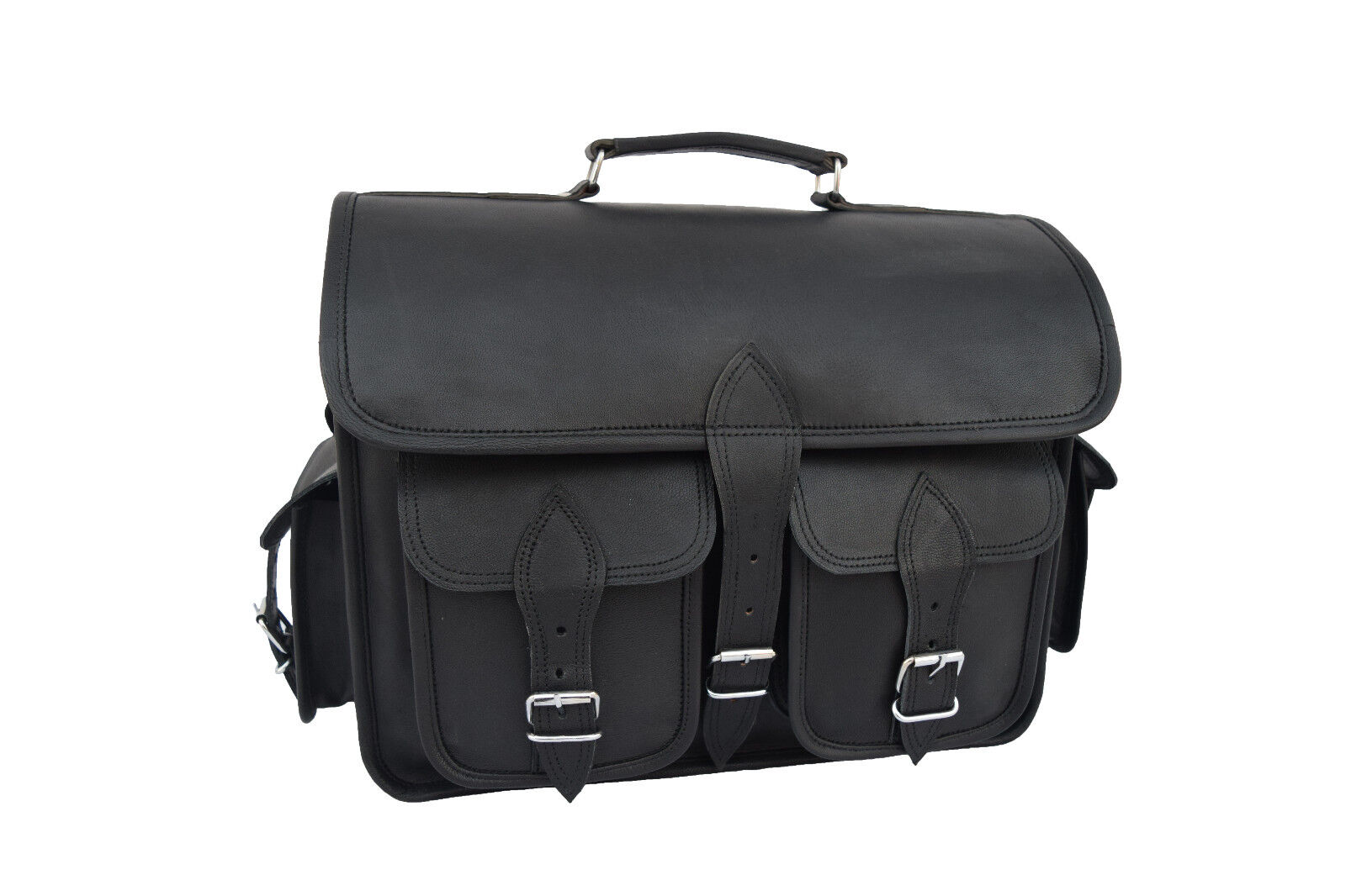 dslr camera bag black leather messenger satchel