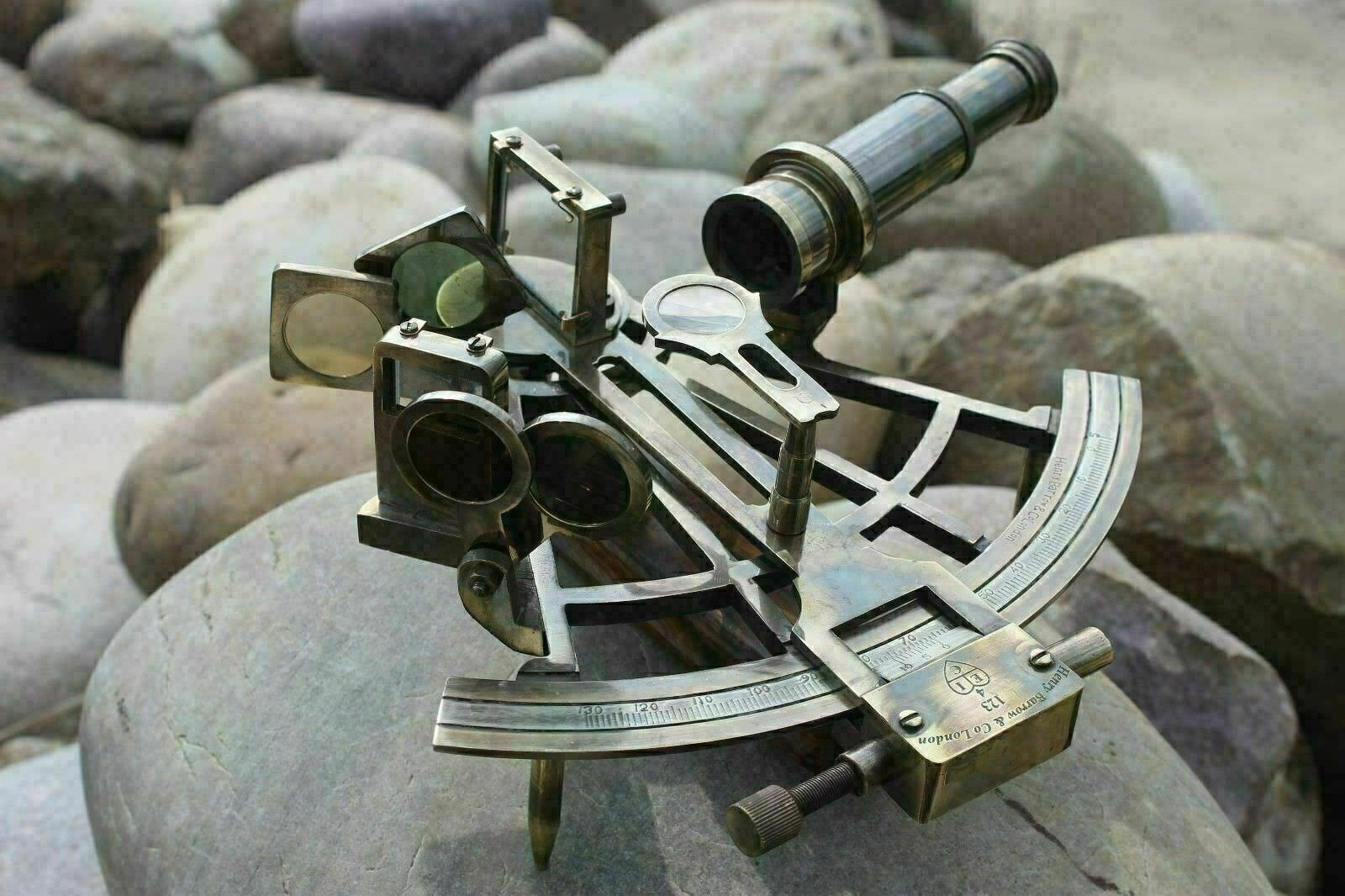 Brass 8 Sextant Antique Nautical Marine Navigational Astrolabe Instrument Gift - $69.00