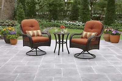 Garden Furniture - 3 Piece Outdoor Bistro Set Garden Patio Table And Chairs Porch Deck Furniture