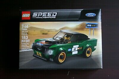 LEGO Speed Champions 1968 Ford Mustang Fastback 75884 NEW & SEALED Building Kit