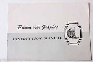 Graflex-Pacemaker-Graphic-Camera-Instruction-Manual-Book-English-USED-B58