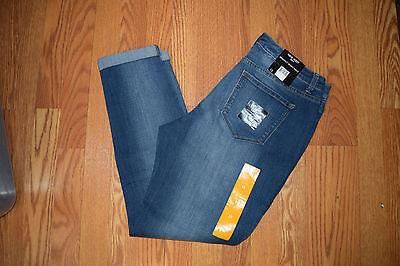 NWT Womens NINE WEST JEANS Gramercy Pacific Medium Wash Skinny Ankle Jeans Sz 14