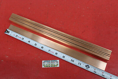 9 Pieces 18 X 1 C110 Copper Bar 14 Long Solid Flat Mill Bus Bar Stock H02