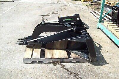 Skid Steer Stump Bucket Grapple 56 Long Hd Replaceable Teeth12 Front Width