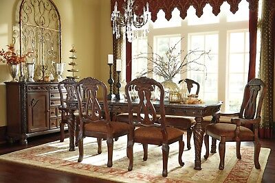 - Ashley North Shore 7 Piece Extension Table Dining Room Set