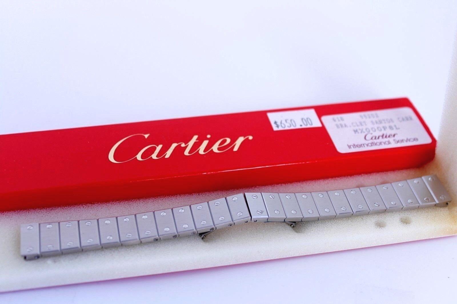 CARTIER SANTOS CARREE Uhremnarmband Edelstahl 14 mm MX000P8L